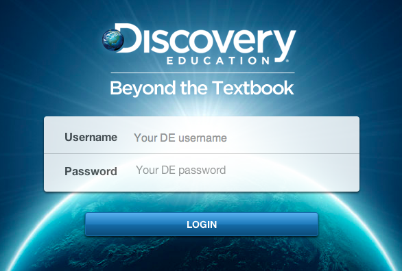 Log into Discovery Ed by visiting www discoveryeducation